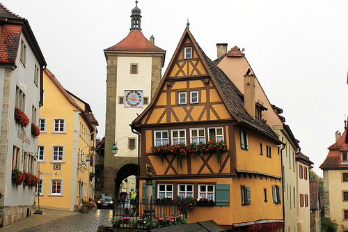 Plonlein - famous view of Rothenburg