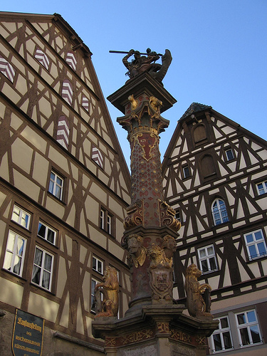 St. George's Statue Fountain, Rothenburg